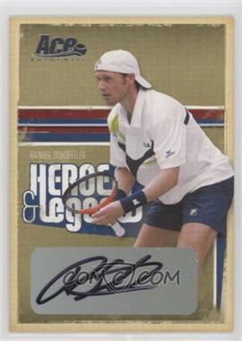 2006 Ace Authentics Heroes & Legends - [Base] - Autographs [Autographed] #85 - Rainer Schuettler /475