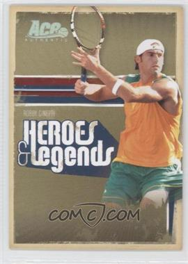 2006 Ace Authentics Heroes & Legends - [Base] - Holofoil #27 - Robby Ginepri /100