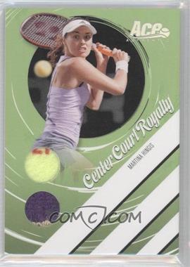 2006 Ace Authentics Heroes & Legends Center Court Royalty Ball/Towel [Memorabilia] #CCR-2 - Martina Hingis /250