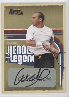 2006 Ace Authentics Heroes & Legends Gold Autographs [Autographed] #39 - Luis Horna /25