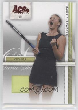 2007 Ace Authentic Straight Sets - [Base] - Materials #24 - Maria Sharapova