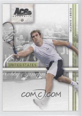 2007 Ace Authentic Straight Sets - [Base] #33 - Robby Ginepri