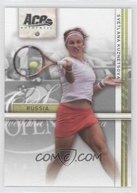 2007 Ace Authentic Straight Sets - [Base] #36 - Svetlana Kuznetsova
