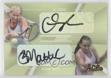 2007 Ace Authentic Straight Sets - Cross Court - Autographs [Autographed] #CC-2 - Jill Craybas, Bethanie Mattek /260