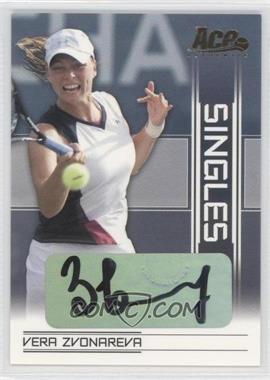 2007 Ace Authentic Straight Sets - Singles - Autographs [Autographed] #SI-5 - Vera Zvonareva