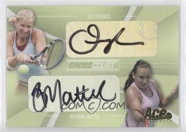 2007 Ace Authentic Straight Sets Cross Court Autographs [Autographed] #CC-2 - Jill Craybas, Bethanie Mattek /260