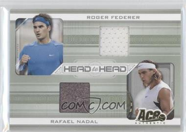 2007 Ace Authentic Straight Sets Head to Head Materials [Memorabilia] #HH-6 - Roger Federer, Rafael Nadal