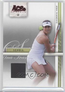 2007 Ace Authentic Straight Sets Materials #3 - Ana Ivanovic