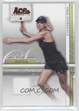 2007 Ace Authentic Straight Sets Materials #7 - Anna Kournikova