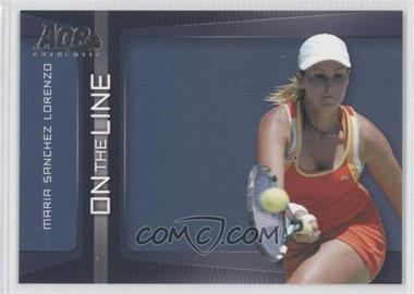 2007 Ace Authentic Straight Sets On the Line #OL-10 - Maria Sanchez Lorenzo