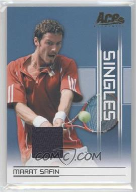 2007 Ace Authentic Straight Sets Singles Materials [Memorabilia] #SI-17 - Marat Safin