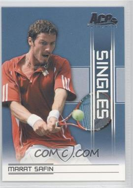 2007 Ace Authentic Straight Sets Singles #SI-17 - Marat Safin