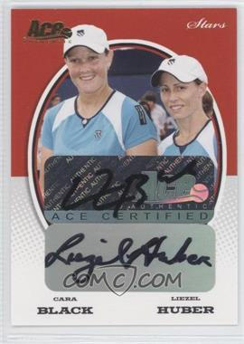 2008 Ace Authentic Grand Slam II Stars Autographs Gold #S20 - Cara Black, Liezel Huber /24