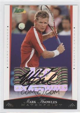 2008 Ace Authentic Matchpoint Autographs Gold [Autographed] #48 - Mark Knowles /25