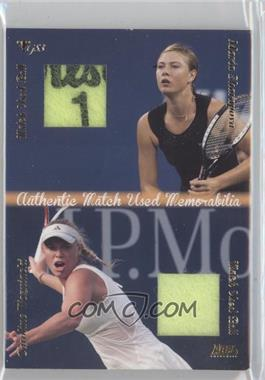 2012 Ace Authentic Grand Slam 3 - Match Used Balls Dual #DMB5 - Maria Sharapova, Caroline Wozniacki