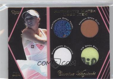 2012 Ace Authentic Grand Slam 3 - Match Used Items Quad #SM8-4 - Caroline Wozniacki