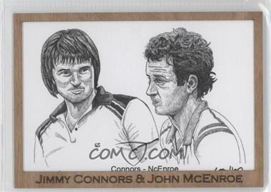 2012 Ace Authentic Grand Slam 3 Art #139 - Jimmy Connors, John McEnroe /1