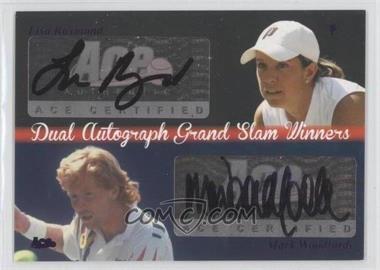 2012 Ace Authentic Grand Slam 3 Dual Autograph Grand Slam Winners #9 - Lisa Raymond, Mark Woodforde