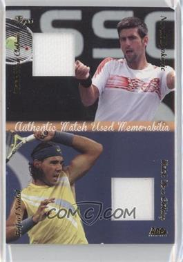 2012 Ace Authentic Grand Slam 3 Match Used Clothing Dual #DMS3 - Novak Djokovic, Rafael Nadal