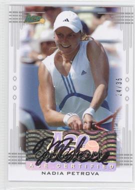 2013 Ace Authentic Signature Series - [Base] #BA-NP1 - Nadia Petrova /35