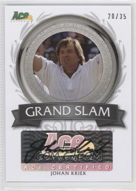 2013 Ace Authentic Signature Series - Grand Slam Autographs #GS-JK2 - Johan Kriek /35