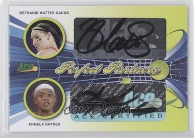 2013 Ace Authentic Signature Series - Perfect Partners - Lime Green #PP-9 - Bethanie Mattek-Sands, Angela Haynes /10