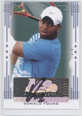 2013 Ace Authentic Signature Series Blue #BA-DY1 - Donald Young /5
