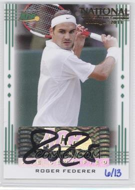 2013 Ace Authentic Signature Series National Convention 2013 #1 - Roger Federer /13