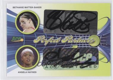 2013 Ace Authentic Signature Series Perfect Partners Lime Green #PP-9 - Bethanie Mattek-Sands, Angela Haynes /10