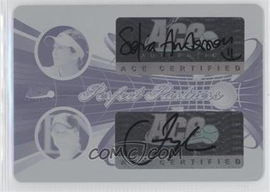 2013 Ace Authentic Signature Series Perfect Partners Printing Plate Cyan #55 - Sofia Arvidsson, Jill Craybas /1