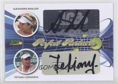 2013 Ace Authentic Signature Series Perfect Partners #PP-2 - Alexandra Mueller, Tetiana Luzhanska /35