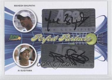 2013 Ace Authentic Signature Series Perfect Partners #PP-37 - Mahesh Bhupathi, Ai Sugiyama /35