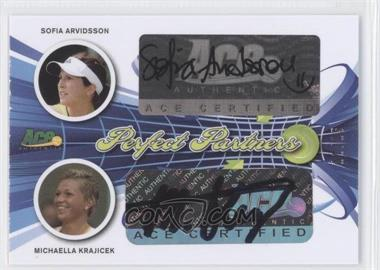 2013 Ace Authentic Signature Series Perfect Partners #PP-56 - Sofia Arvidsson, Michaella Krajicek /35