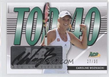 2013 Ace Authentic Signature Series Top 40 #T40-CW1 - Caroline Wozniacki /35