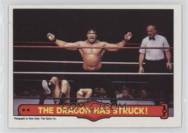 """1985 O-Pee-Chee Pro Wrestling Stars #26 - Ricky """"The Dragon"""" Steamboat"""
