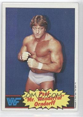 1985 Topps WWF - [Base] #5 - Paul Orndorff