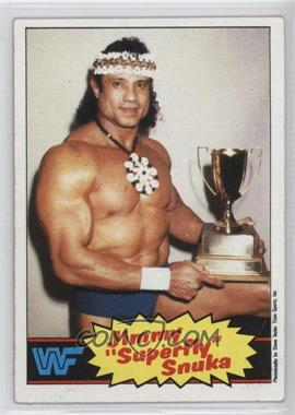 1985 Topps WWF - [Base] #6 - Jimmy Snuka