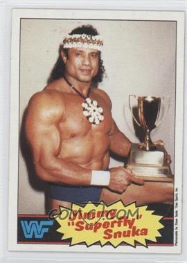 1985 Topps WWF #6 - Jimmy Snuka