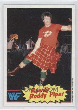 1985 Topps WWF #7 - Roddy Piper
