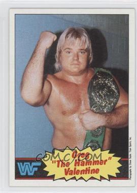 "1985 Topps WWF #9 - Greg ""The Hammer"" Valentine"