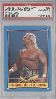 1987 O-Pee-Chee WWF - [Base] #37 - Hulk Hogan [PSA8]