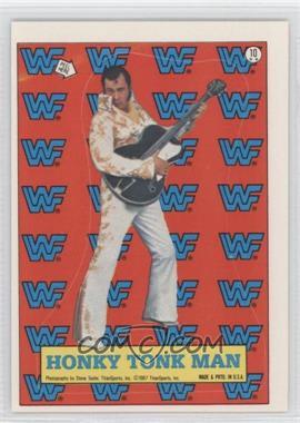1987 Topps WWF Stickers #10 - Honky Tonk Man