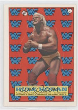 1987 Topps WWF Stickers #2 - Hulk Hogan