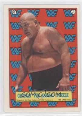 """1987 Topps WWF Stickers #21 - George """"The Animal"""" Steele"""