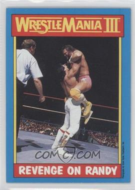 "1987 Topps WWF #50 - Ricky ""The Dragon"" Steamboat, Randy Savage"