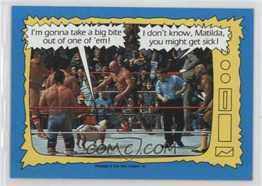 1987 Topps WWF #74 - Matilda, Davey Boy Smith