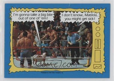 1987 Topps WWF #74 - Matilda, Davey Boy Smith