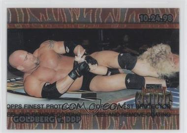 1999 Topps WCW/nWo Nitro Chrome #C10 - Goldberg v. DDP (Halloween Havoc)
