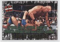 Stone Cold Steve Austin vs. Edge & Christian and Kurt Angle