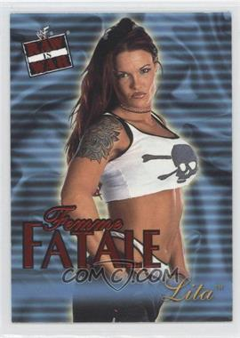 2001 Fleer WWF Raw is War - Femme Fatale #19FF - Lita